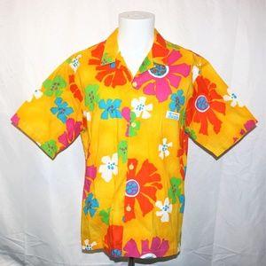 JAMS World Surf Line Hawaii Floral Hawaiian Shirt